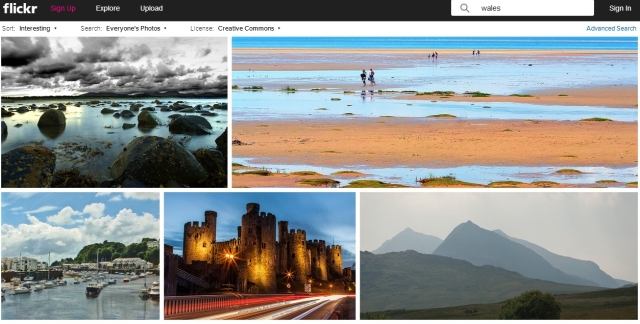 flickr Wales for close up